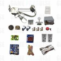 DIY Arcade claw crane machine kit with 53cm stainless steel gantry main board coin acceptor power supply speaker button