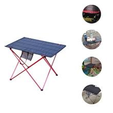 Mesa de Camping plegable para exteriores, escritorio de Picnic portátil, antideslizante, para viajar, Material de aluminio, sillas plegables