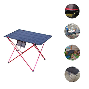 Image 1 - 캠핑 테이블 야외 foldable 어셈블리 diy 피크닉 책상 휴대용 안티 슬립 레저 여행 알루미늄 소재 접는 의자