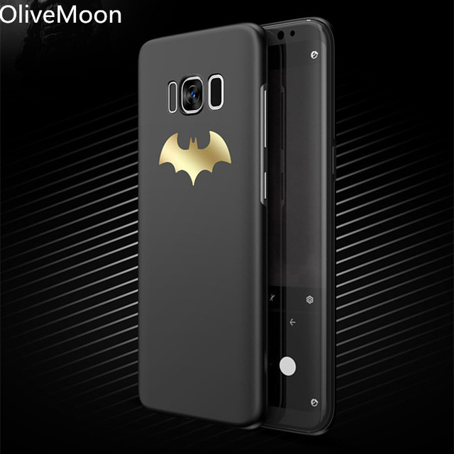 brand new f7802 2c806 US $3.24 35% OFF|Batman Phone Case For Samsung Galaxy Note 9 S8 S9 Plus  Coque Matt PC Back Cover For Samsung Galaxy Note 8 S7 S7 Edge Capa -in  Fitted ...
