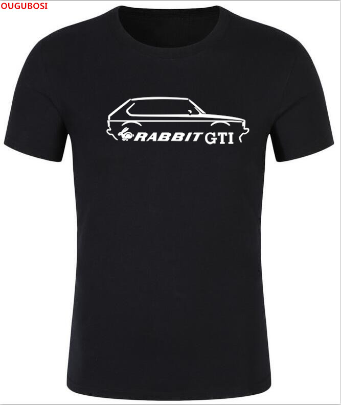 2018 free shipping Details about VW MK1 RABBIT GTI 80s INSPIRED CLASSIC CAR T-SHIRT