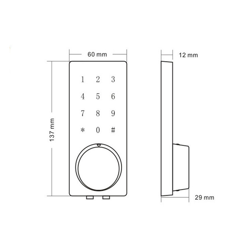 Electronic Door Lock Remote Control, Password, Mechanical Key Touch Screen Keypad Digital Code Lock lk110BSRM