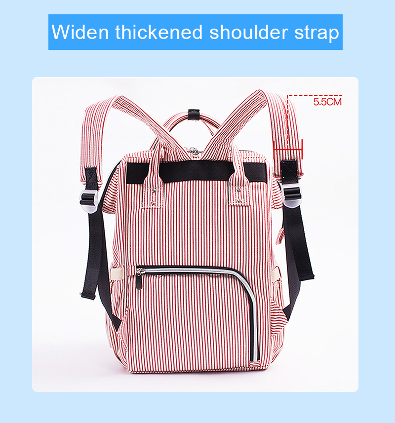 Baby Diaper Bag Mummy Maternity Travel Waterproof Bag Nappy Changing Backpack Organizer Nursing Wet Bag Large Capacity Baby Bag (13)
