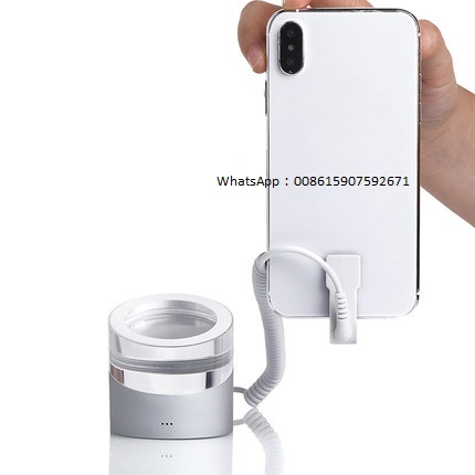 Apple_iphone_experience_store_pedestal_Huawei_security_alarm_display_acrylic_base_stand