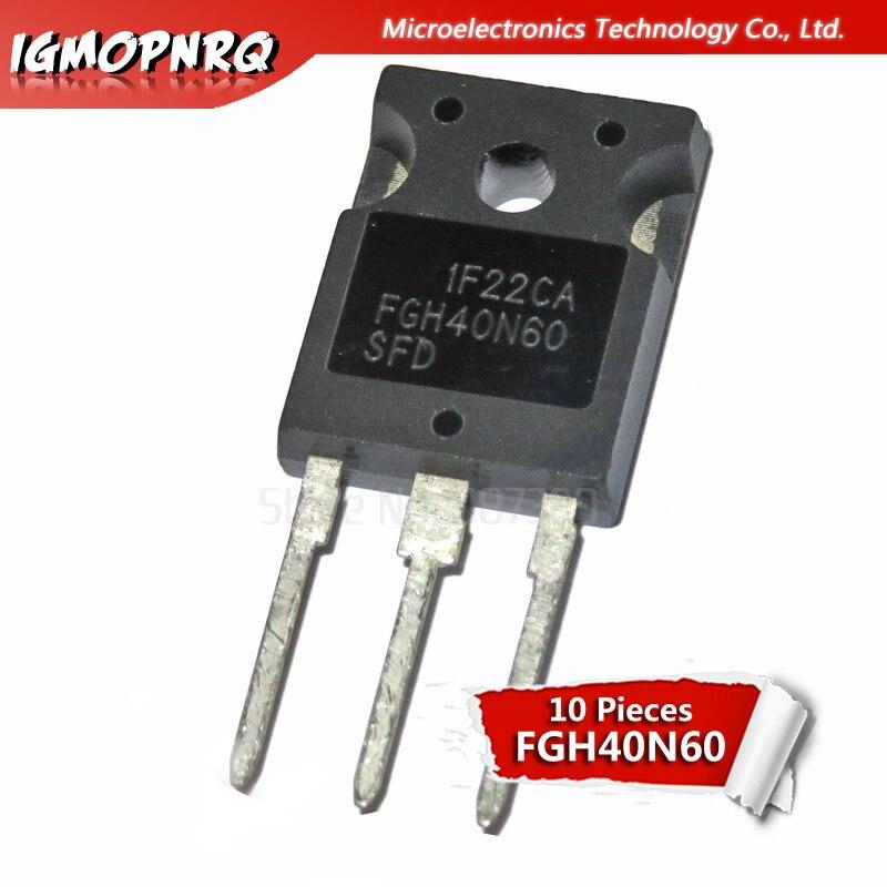 10pcs FGH40N60SFD FGH40N60 TO3P 40N60 600V 40A IGBT Transistor