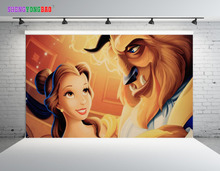 SHENGYONGBAO Vinyl Photography Backdrops Props Beauty and the beast  theme Photo Studio Background SML-0028 стоимость