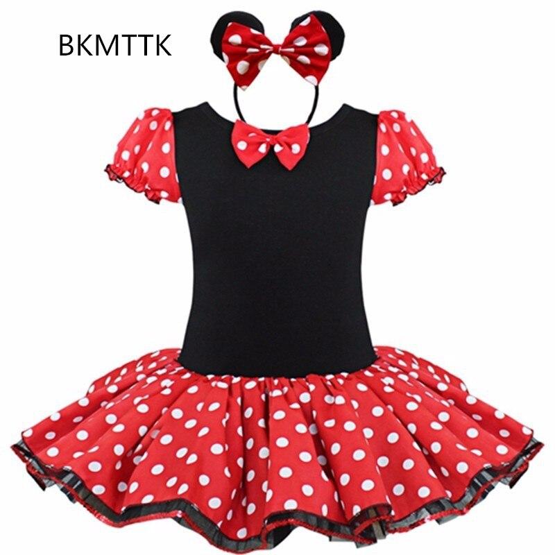 Fashion Minnie women's girl dress show, Minnie dress, children's polka dot dress, ballet girl dress