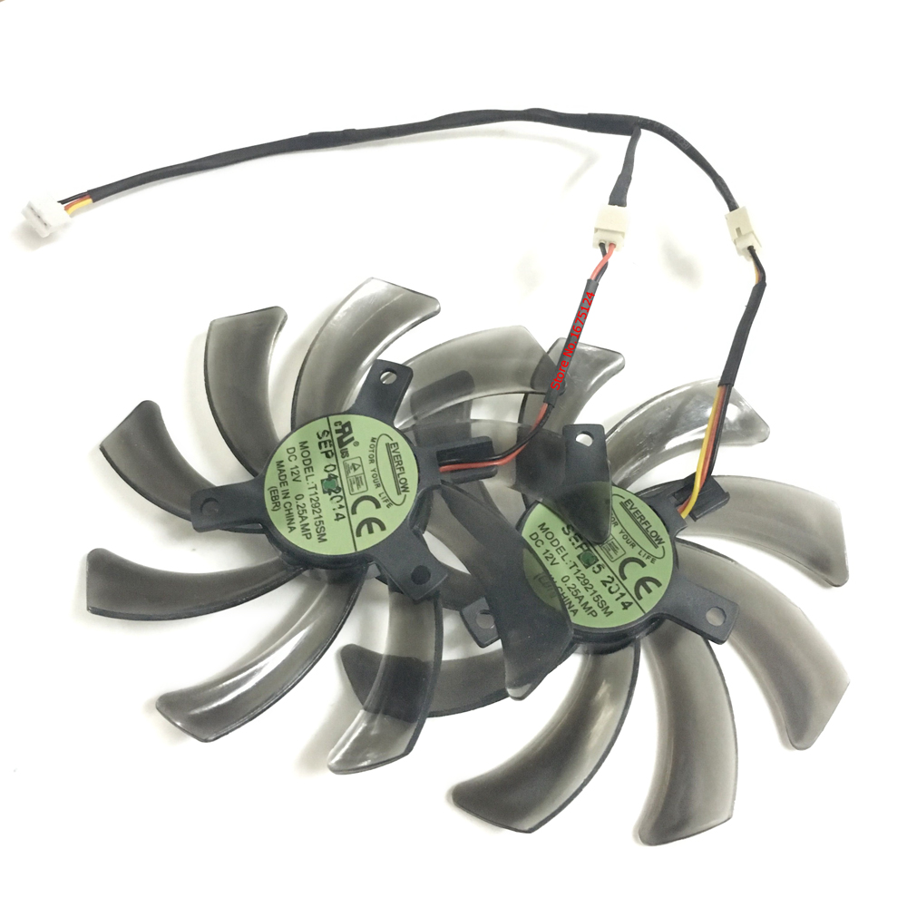 95MM diameter Computer VGA Video Card Fan Cooler For GV-N65 N56 GV-N640 Graphics Cards Cooling 2pcs computer vga gpu cooler fans dual rx580 graphics card fan for asus dual rx580 4g 8g asic bitcoin miner video cards cooling