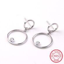 Novo 925 Prata Esterlina Prata Super flash Rhinestone eardrop borla brincos longa seção de sexo feminino moda jóias simples