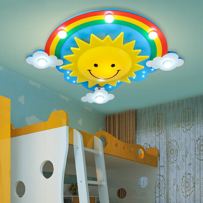 Ceiling Lights & Fans Qiseyuncai Modern Childrens Room Notes New Led Ceiling Lamp Cartoon Creative Personality Simple Boy Girl Bedroom Lighting Ceiling Lights