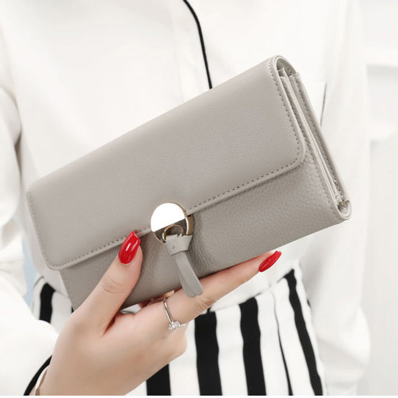 New Fashion PU Leather Women's Wallet Women Purses Long Card Holder Female Wallet Coin Purse Ladies Money Bag Portefeuille Femme anime fairy tail wallet cosplay school students money bag children card holder case portefeuille homme purse wallets