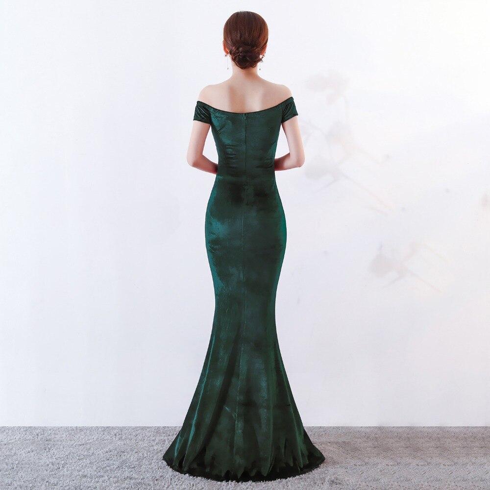 Women Elegant Sexy Appliques Velvet Wine Red Off Shoulder V-Neck Long Mermaid Slim Slit Club Party Dress Vestidos (15)