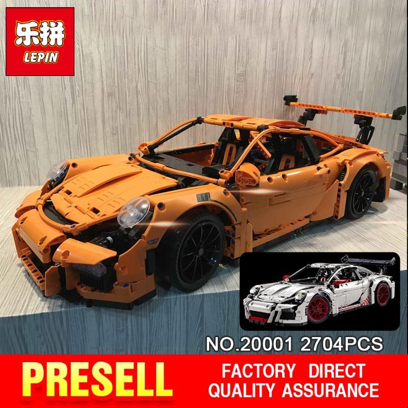 New LEPIN 20001 technic series 911 GT3 RS Race Car Model Building Kits Minifigures Blocks Bricks Compatible 42056 Boys Gift