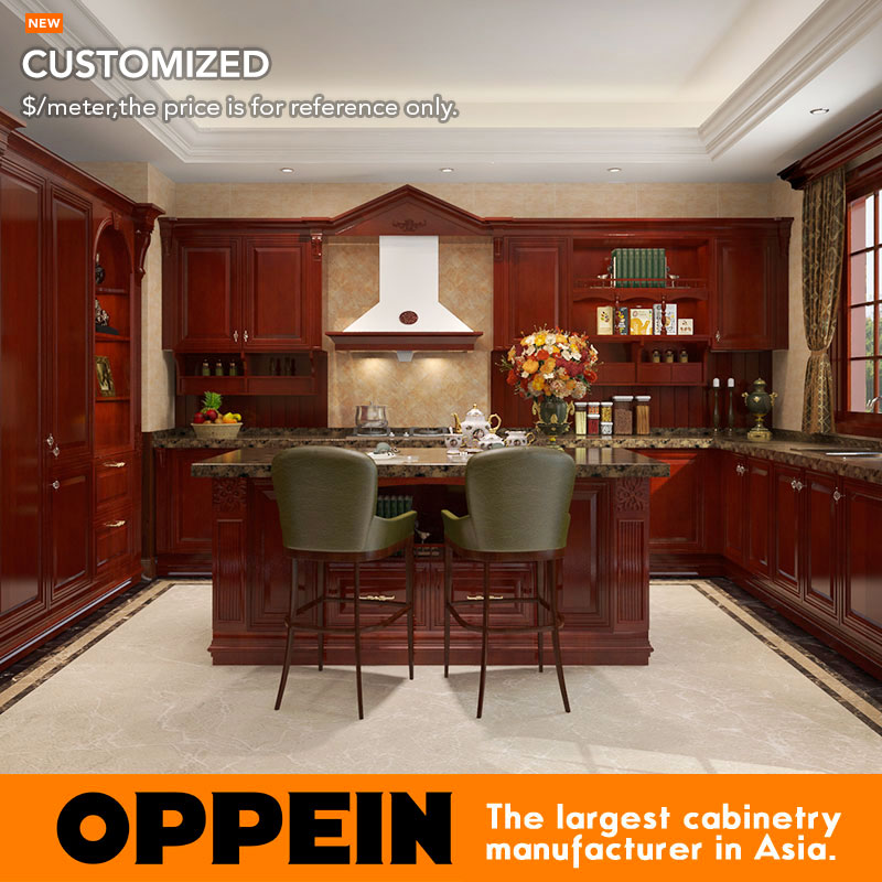 oppein antique e1 europe standard customized kitchen cabinets from chinaop16 s06