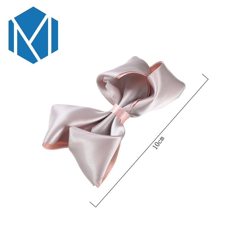 M MISM 1PC Fashion Women Big Hairpins Solid Ribbon Bow Hair Clip Girl Headdress Steamer Children Barrettes Hair Accessories in Hair Accessories from Mother Kids