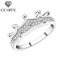 Crown Rings Queen Luxury Jewelry Wedding Silver Gothic S925 Ring-Baroque Anel Princess