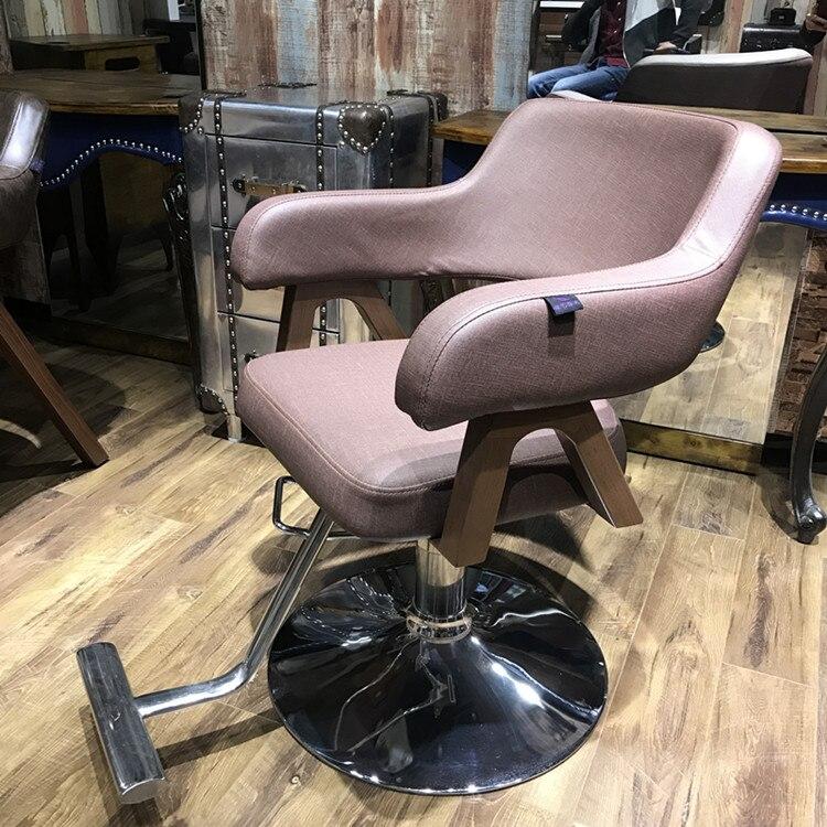 Купить с кэшбэком Solid wood armchairs barber shop barber chair barber chair.