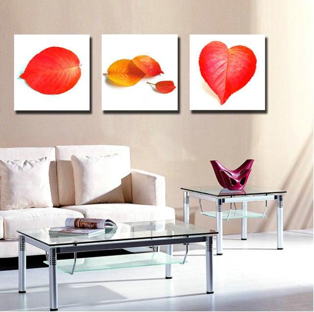 panel de la lona pintura al leo abstracta de las hojas de arte sin marco paisaje pictures pinturas decorativas de pared de co