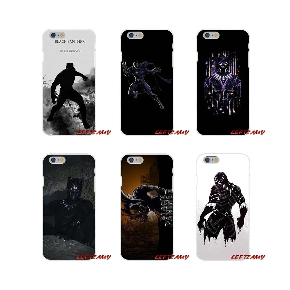Accessoires coque de téléphone Couvre Pour Samsung Galaxy S4 S5 MINI S6 S7 bord S8 S9 S10 Plus Note 3 4 5 8 9 Bandes Dessinées marvel panthère noire