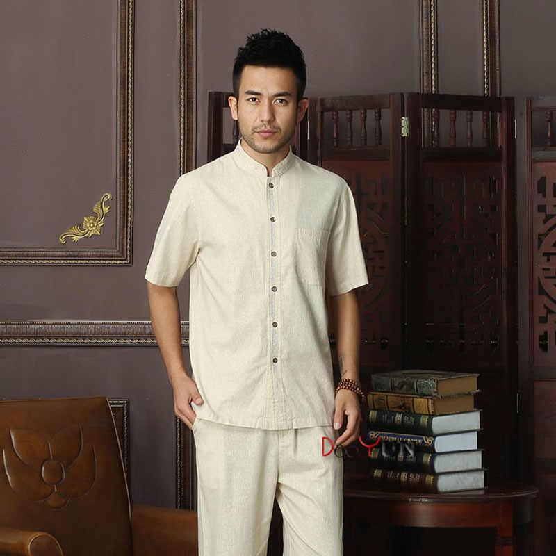 ブランド新到着中国の伝統的な綿リネン男性のカンフートップス ML XL XXL 3XL 4XL MS2015025