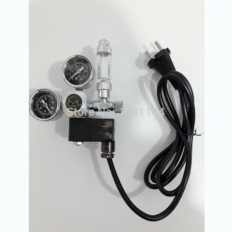 EU RU Delivery Aquarium CO2 Regulator W21.8 G5/8 220V Magnetic Solenoid Check Valve Aquarium Bubble Counter Fish Tank Tool