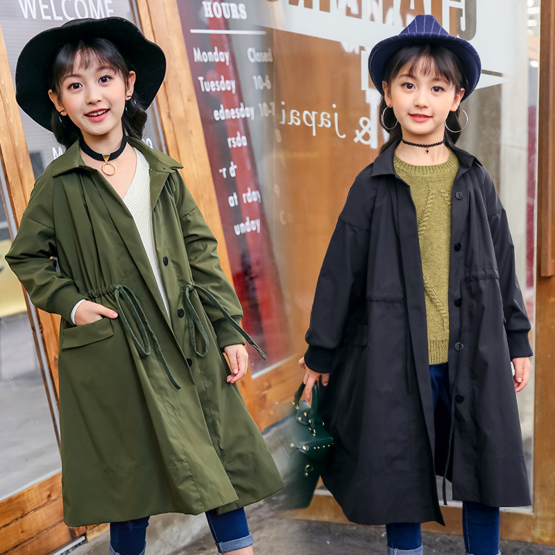2018 Autumn Cotton Girls Jackets Children Trench For Girls Coats Kids Outerwear Fall Infant Windbreaker Overcoat Girls Clothes 2018 denim jackets for girls long coats girls trench spring outerwear for girls windbreaker kids clothes children clothing 4 14t