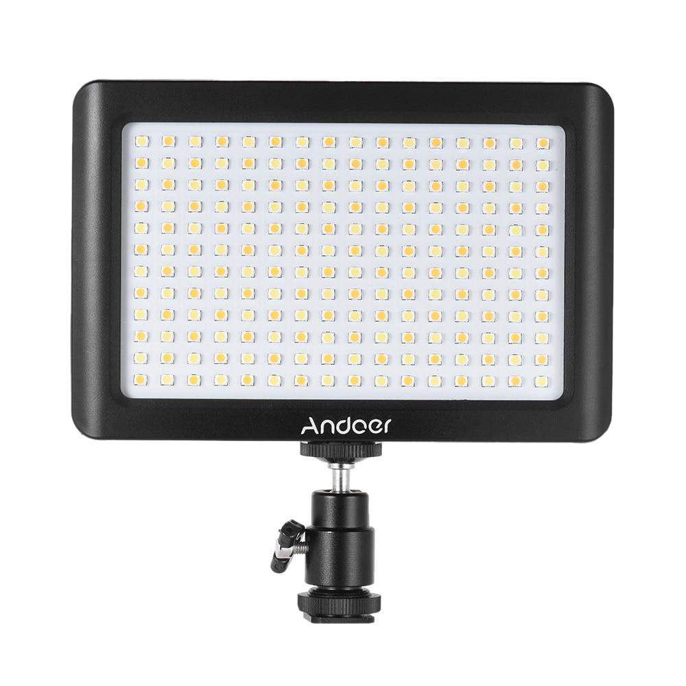 andoer mini portable led light panel lamp dimmable studio video photography 3200k 6000k 192pcs. Black Bedroom Furniture Sets. Home Design Ideas