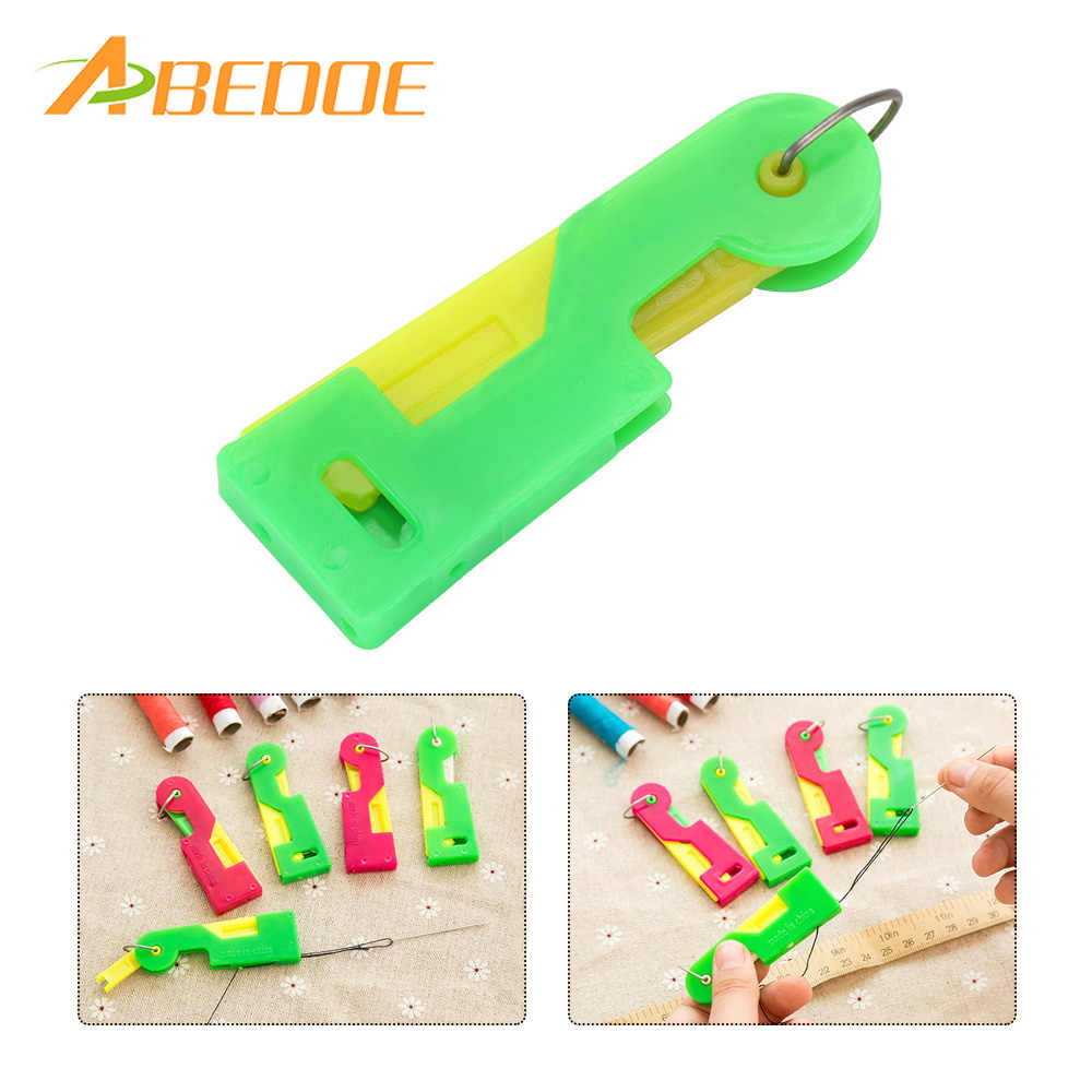 ABEDOE Mini Pratical Sewing Needle Device Automatic Threader Handheld Needlework Sewing Tool for Senior People Elderly Mom