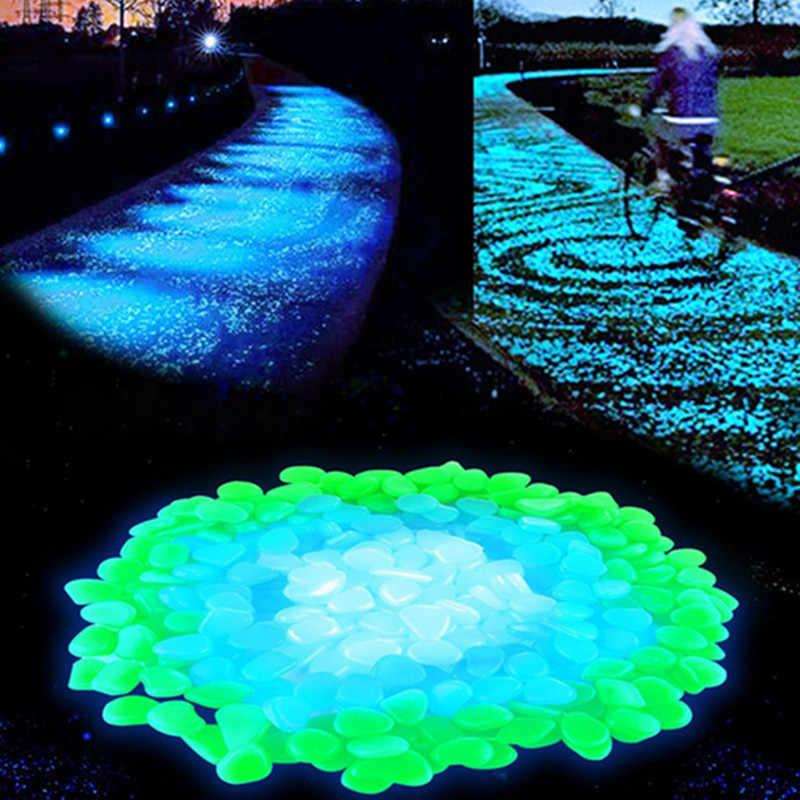 10 قطعة الاصطناعي الحصى الأحجار توهج في الظلام الرئيسية حلية توريد مضيئة الحصى حديقة الأسماك خزان ماء الديكور
