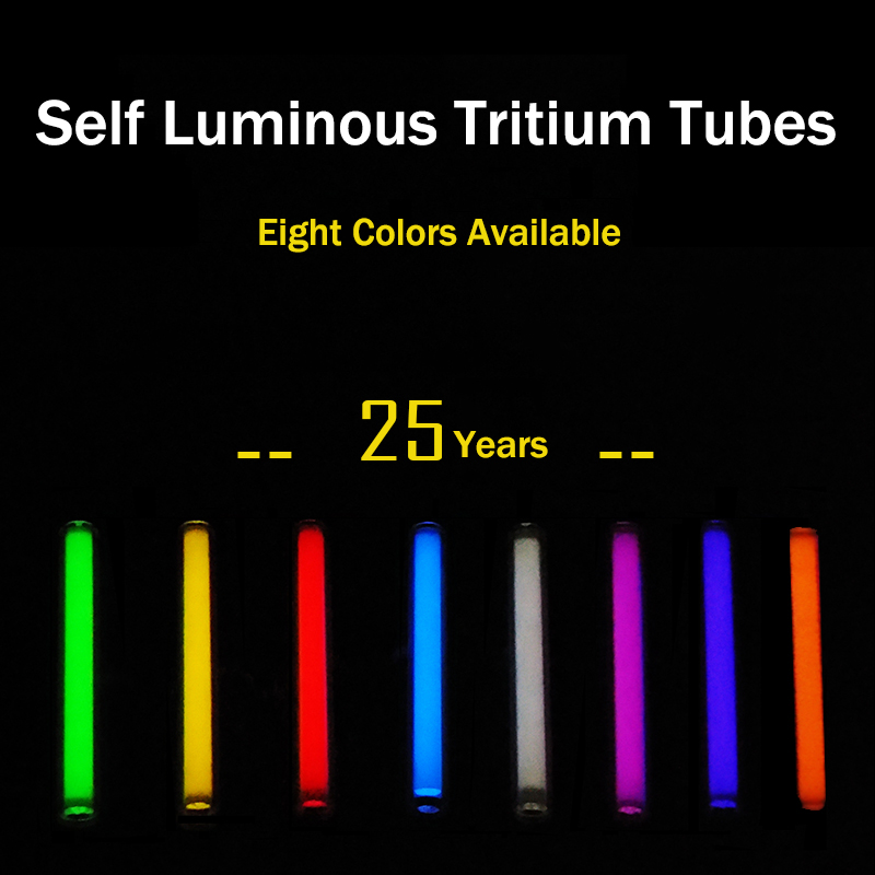 1.5mm*6mm 2mm*12mm 3mm*11mm 3mm*15mm 3mm*22.5mm 3mm*25mm Automatic light 25 years Glowing Tritium Tube EDC DIY Outdoor Tools