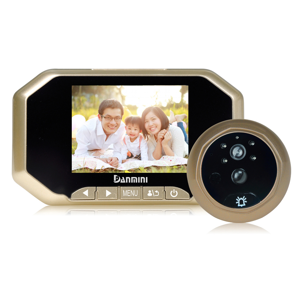 Danmini YB-35AHD-M Video Intercom 3.5 inch 2.0MP TFT Digital Peephole Viewer with PIR Motion Detection/Night Vision аккумулятор yoobao yb 6014 10400mah green