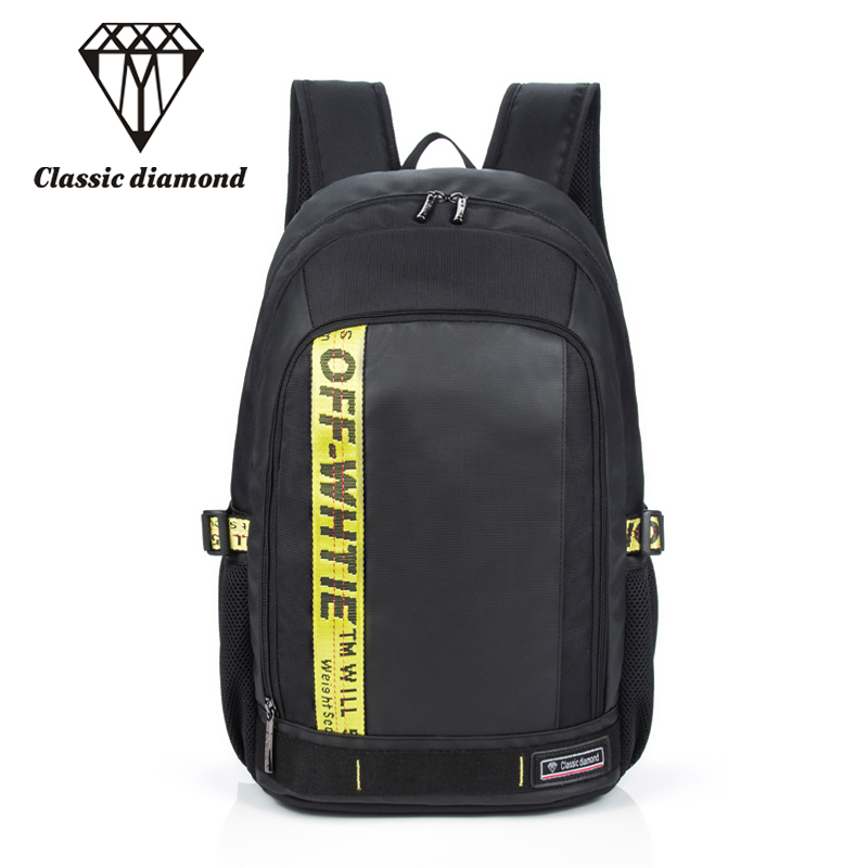 Classic Diamonds College Student School Bags For Girls Teenagers 15.6 inch Laptop Backpacks Women Large Capacity Travel Bag 2018