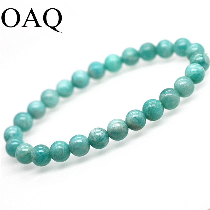 A+ Natural Strand Bracelets Polished Beads Women Fashion Jewellery Elegant Blue Girlfriend Gift Female Bracelet jewellery