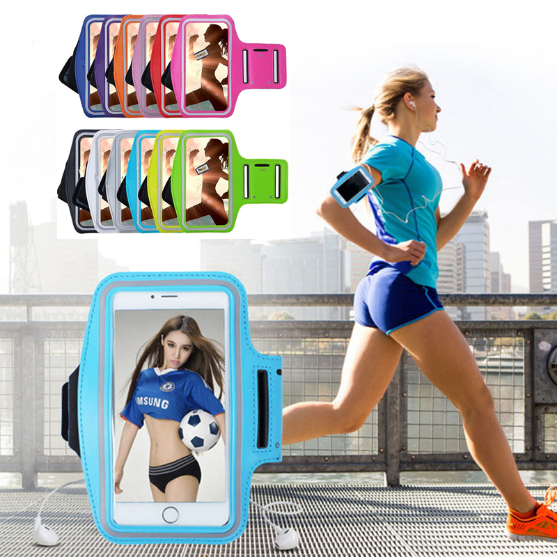 Sport Armband case mobile phone fashion holder for women's on hand smartphone handbags sling Running Gym Arm Band Fitness