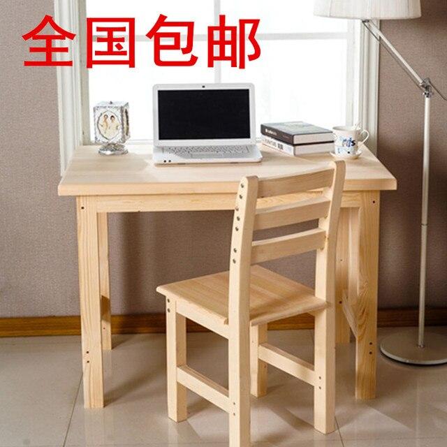 Custom Shipping Tables Wood Computer Desk Notebook Desktop Minimalist  Modern Desk Pine Desk Study Tables