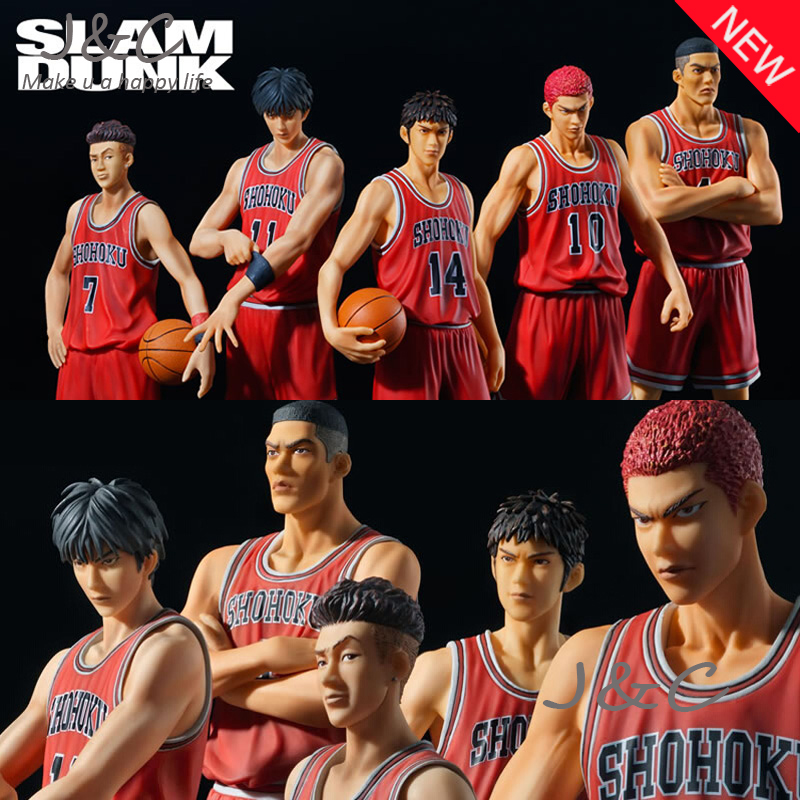 Free Shipping Japanese Anime Slam Dunk hanamichi sakuragi 26cm PVC Action Figures Dolls Model Boys Toys Doll Kids gift 6pcs set disney trolls dolls action figures toys popular anime cartoon the good luck trolls dolls pvc toys for children gift