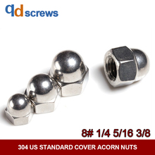 304 8#1/4#5/16#3/8# US Standard Stainless Steel Cover Acorn Nuts DIN1587 плафон vita acorn white steel