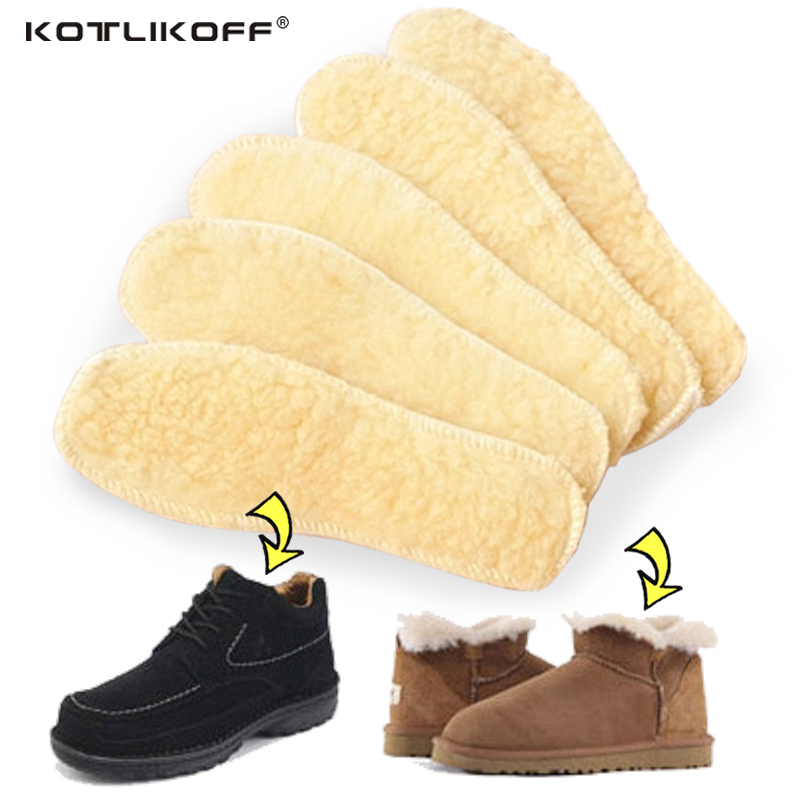 Heated insoles Winter thick insole Imitation Wool Warm with fur keep feet warm and comfortable for men women shoes accessories