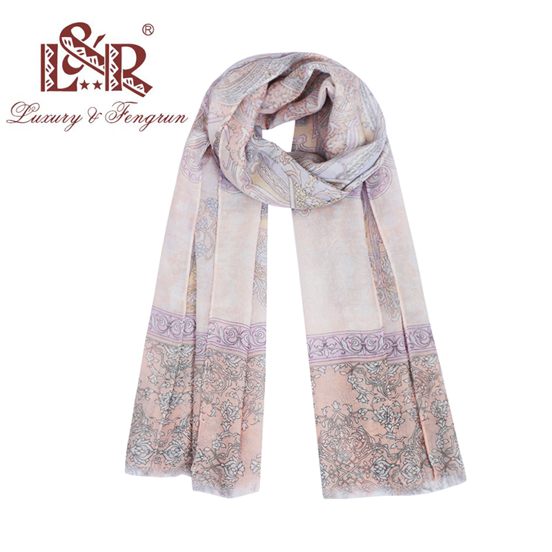 2018 Floral Stars Printed Elegant Silk   Scarf   Women Long Foulard   Scarf   Cotton   Wrap   Shawl Female Fashion Design Bufanda Mujer