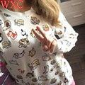 Jogo atsume neko cat hoodies sweat com capuz camisa de suor das mulheres pulôveres para a roupa da escola wxc