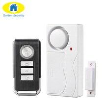 Wireless Door Window Entry Security ABS Wireless Remote Control Door Sensor Alarm Host Burglar Security Alarm System