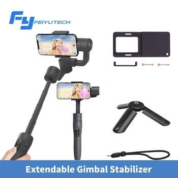 FeiyuTech Vimble 2 Smartphone Gimbal 3-ציר כף יד מייצב עם 183mm הארכת מוט חצובה עבור iPhone X 8 7 XIAOMI סמסונג
