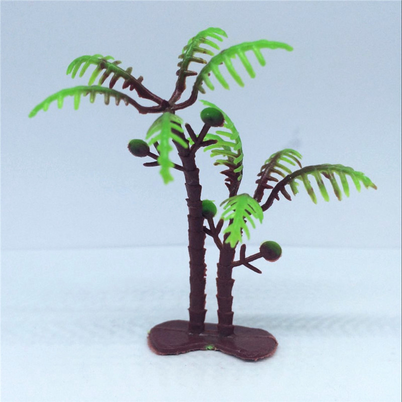 2017 High Quality20pcs Mixed Model Plastic Trees Train Railways Architecture Wargame Scenery Layout 6.5cm Landscape Mini Tree