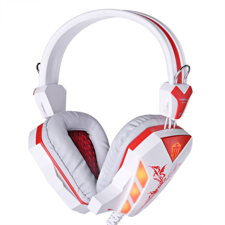 Cosonic CD-618 40mm Driver Unit Two-channel Stereo Gaming Headset Headphones with Volumn Control Mic LED Light for PC Computer (3)