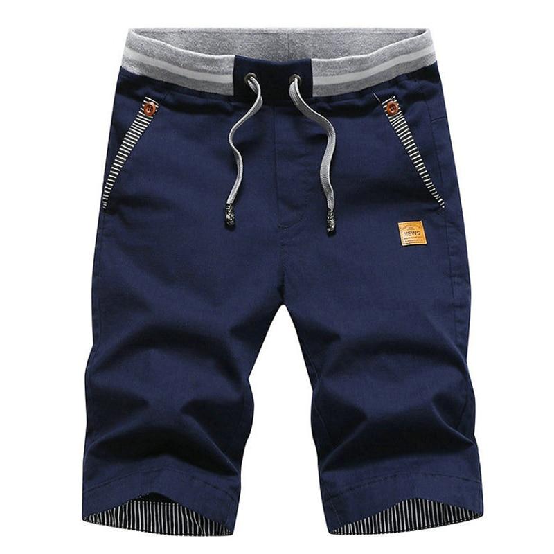 Drop Shipping New Summer Solid  Shorts Men Cargo Plus Size 4XL Beach Shorts M-4XL Casual Stylish Streetwear Elastic Waist Silm