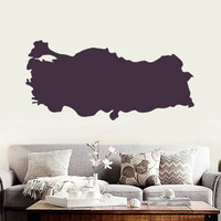 Turkey map Globe Earth Country  wall vinyl sticker custom made home decoration fashion design