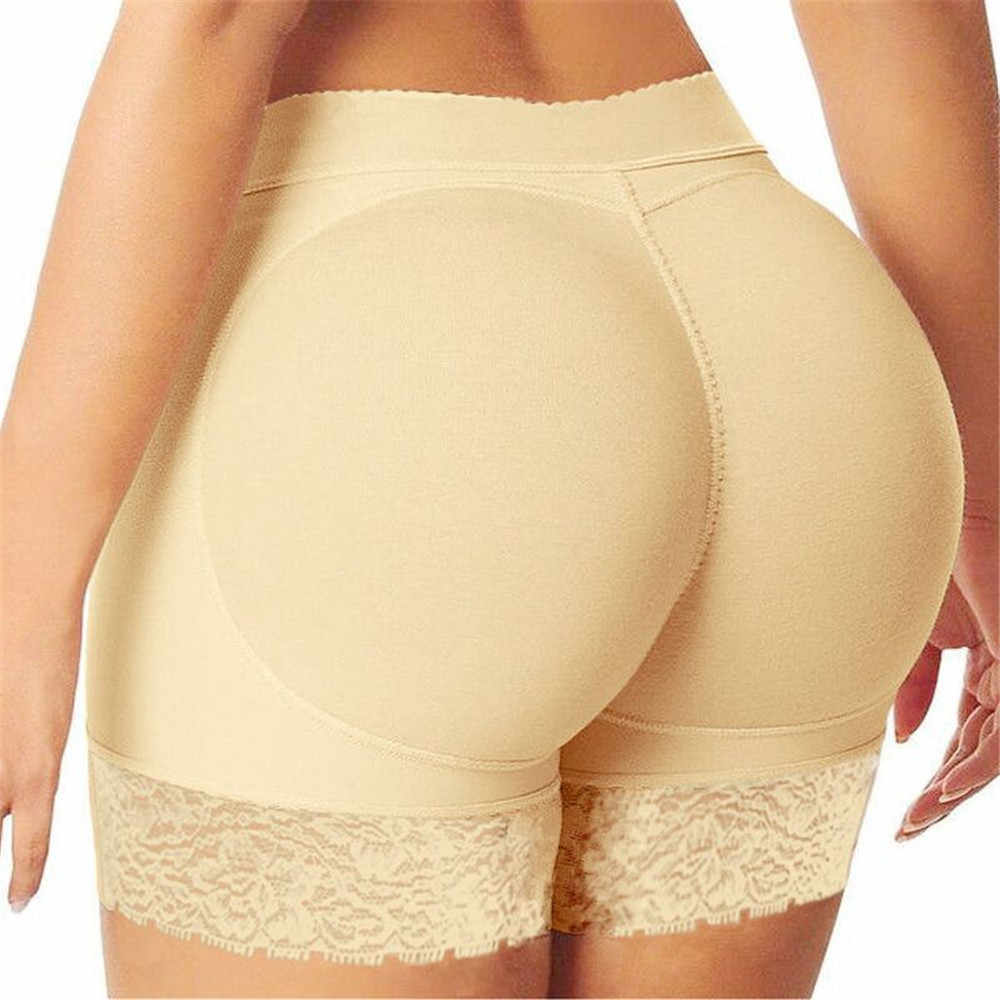 Kobiety Sexy bez szwu koronki bezpieczeństwa szorty bokserki Plus rozmiar kobiet majtki szorty spodnie Shaper bielizna biodra klocki z poduszką powietrzną