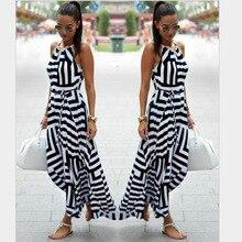Womens V Neck Boho Maxi Dress Geometric Print Elastic Sashes Long Pleated Sundress Summer 2019