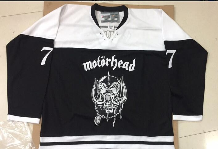 Vintage MOTORHEAD 77 LARGE lemmy kilmister Hockey Jersey Embroidery  Stitched Customize any number and name Jerseys 3112b8234