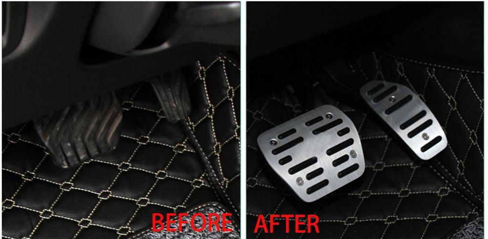 Sliver Car DSG Sport Brake Accelerator Pedals Manual Anti-skid ...